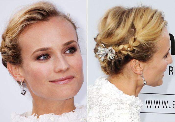 penteado de trança noiva