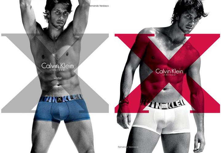 O tenista espanhol Fernando Verdasco posou só de cueca para a grife norte-americana Calvin Klein