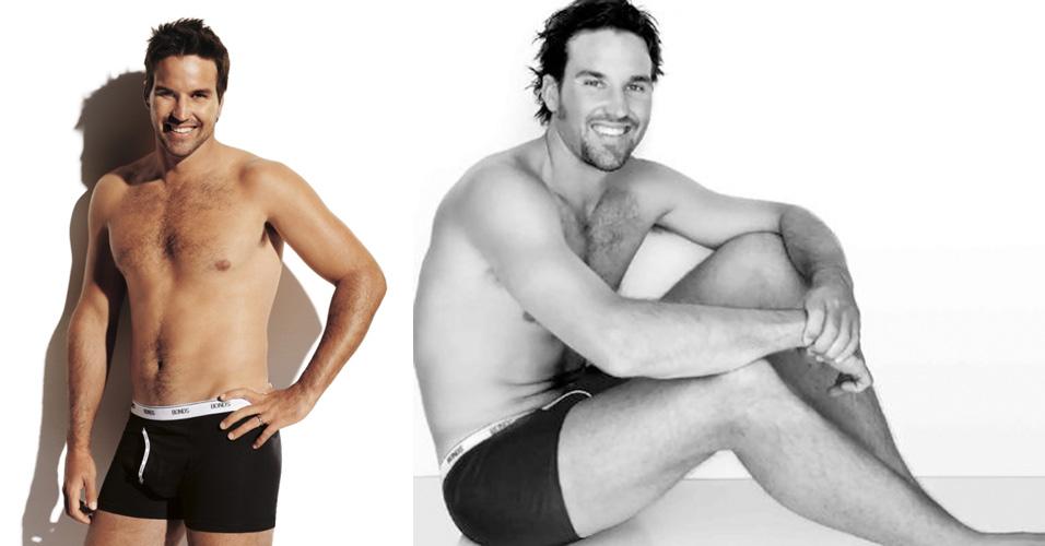 O jogador australiano de tênis Patrick Rafter foi convocado como garoto-propaganda pela marca de cuecas Bonds