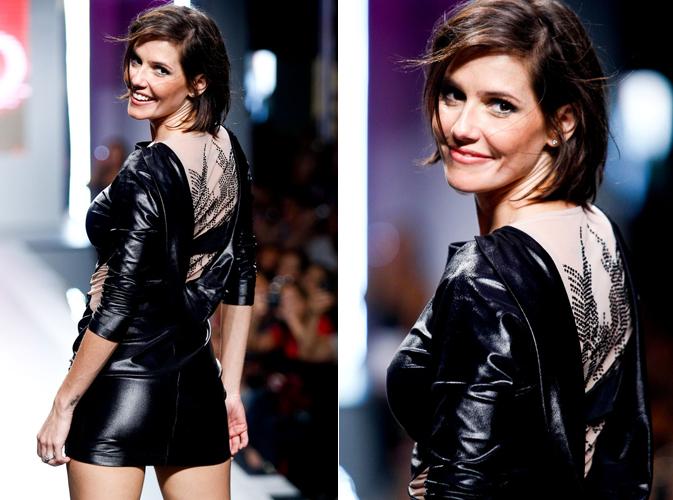 A atriz Deborah Secco é a principal atração do terceiro e último dia de desfiles do Mega Polo Moda, no Brás (29/02/2012)