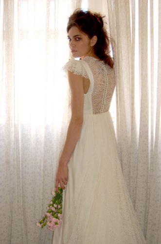 Detalhe em renda de vestido criado pela estilista Andrea Garcia (Studio Pilar)