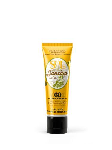 Loção de Proteção Facial FPS 60, Sol de Janeiro. Protege contra a radiação solar ao mesmo tempo em que combate o ressecamento, já que possui cupuaçu, algas marinhas, vitamina E e oliva. Preço sugerido: R$ 50. SAC: 0800-733450Preços pesquisados em julho de 2011 e sujeitos a alterações
