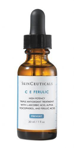 50/60 ANOSC E Ferulic, SkinCeuticals, R$ 279. Este sérum antioxidante de alta potência, combina vitamina C pura a 15% e vitamina E a 1% com ácido ferúlico, o que permite uma poderosa proteção contra os danos causados pelo meio ambiente. Estimula a síntese de colágeno e previne o envelhecimento, por isso é indicado para a pele madura com sinais de fotoenvelhecimento. SAC: 0800-7017371Preços pesquisados em agosto de 2011 e sujeitos a alterações