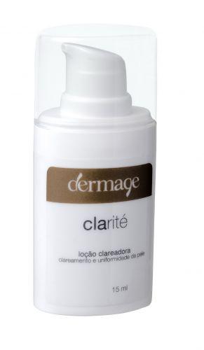 A Clarité Loção Clareadora, da Dermage, foi indicada pelos dermatologistas para clarear, hidratar e prevenir o envelhecimento de forma suave. Preço sugerido: R$ 49,90. SAC 0800-0241064