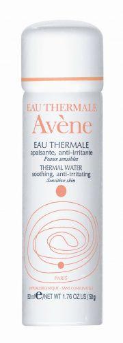 A Água Termal Avène é recomendada pelos dermatologistas por possuir propriedades antioxidantes, calmantes e hidratantes para peles sensíveis. Preço sugerido: R$ 26,22 (50ml). SAC 0800-7021037