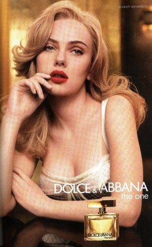 Scarlett Johansson faz propaganda da nova fragrância da grife Dolce & Gabbana, The One