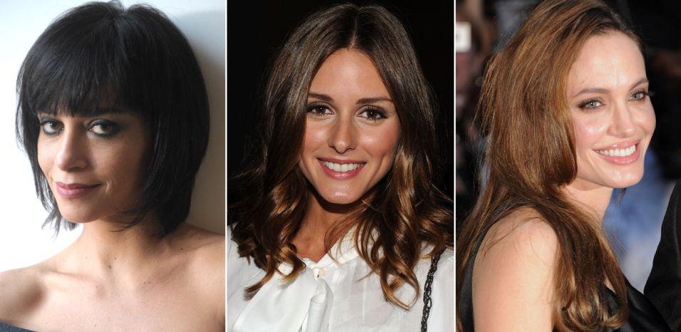 E aqui as referências para os cortes que você aprende a fazer nas próximas fotos: Suzana Pires, Olivia Palermo e Angelina Jolie
