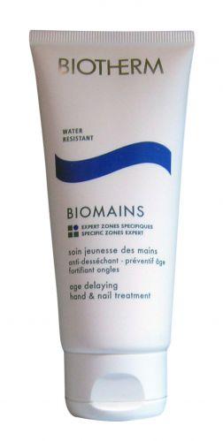 Creme Hidratante para Mãos Biomains, Biotherm. Tem alto poder hidratante e protege as unhas. Além de prevenir contra o envelhecimento precoce. Preço sugerido: R$ 142. SAC: 0800-7017323Preços pesquisados em julho/2011 e sujeitos a alteração