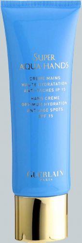 Super Aqua Hands, Guerlain - Com FPS 15, o creme para as mãos promete hidratação máxima e efeito anti-idade e anti-sinais. Preço sugerido: R$ 222,00. SAC: 0800 704 3440