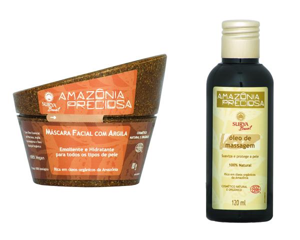 A marca de produtos naturais Surya Brasil sugere um kit com máscara facial de argila e óleo de massagem para presentear neste Dia das Mães. Preço sugerido: R$ 198,00. SAC: 0800 770 7411
