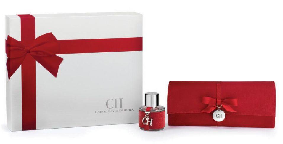 Kit Carolina Herrera, à venda na rede de perfumarias Opaque, vem com o perfume CH (50 ml) e uma bolsa vermelha para festas. Preço sugerido: R$ 309,00. SAC: www.opaque.com.br