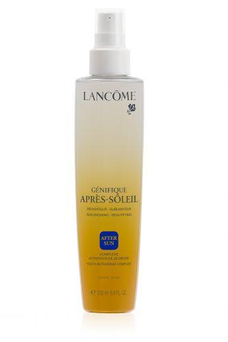 Spray refrescante e hidratante Genifique Soleil Aprés Soleil, que promete regenerar a pele exposta ao sol e proporcionar efeito calmante; preço sugerido R$ 179, da Lancôme (SAC 0800-7017323)Preço pesquisado em janeiro de 2012 e sujeito a alteração