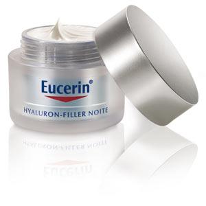 O Creme Eucerin Hyaluron Filler Noite, promete reestabilizar a densidade da pele e estímula a síntese do ácido hialurônico nas camadas mais profundas da pele, a partir de R$ 135; na Drogaria Onofre. (Tel.: 11 3111-6533)