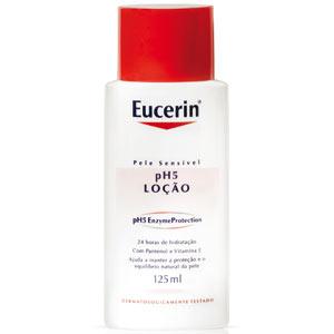 A Loção Eucerin ph5 promete hidratação prolongada e é recomedada para uso de manhã e à noite, a partir de R$ 45; na Drogaria Onofre. (Tel.: 11 3111-6533)