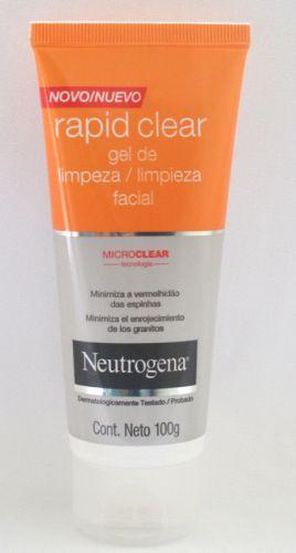 Gel de limpeza facial Neutrogena Rapid Clear; R$ 21,90, na Johnson & Johnson (Tel.: 0800-7036363)