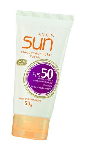 Bloqueador solar facial FPS 50; R$ 26, na Avon (Tel.: 0800-7082866)