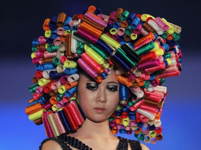 Penteado colorido com