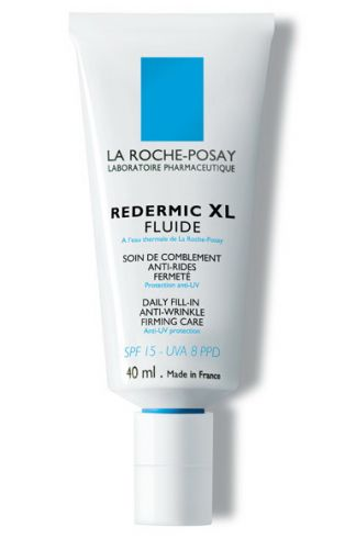 Junho 09: O Redermic XL Fluide, da La Roche Posay, é um fluido diário de preenchimento com água termal. O produto promete corrigir as rugas mais profundas, combater a perda de firmeza e reduzir o brilho da pele. O creme possui FPS 15 e é indicado para peles mistas e oleosas. Preço sugerido: R$ 149,90. SAC 0800-7011552