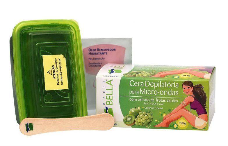 Junho 09: A Cera Depilatória para Micro-ondas Depil Bella, da Bioclean, traz extratos de frutas verdes como kiwi, maça e uva. O produto é indicado para pequenas áreas, como buço e axilas, e promete deixar a pele macia e hidratada. Preço sugerido: R$ 10,50. SAC 0/XX/11 2236-5888