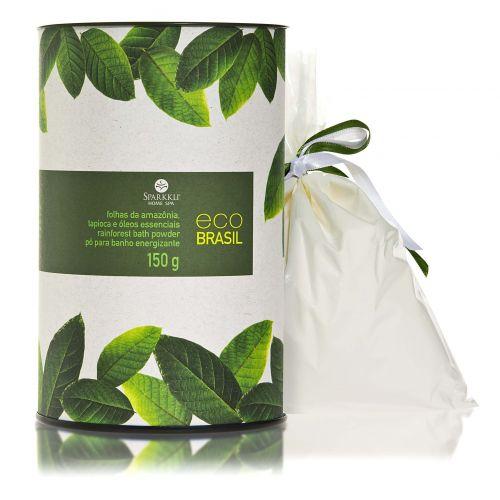 Julho 2009: O Pó para Banho Energizante Eco Brasil Folhas da Amazônia, da Sparkkli Home Spa, reúne em sua fórmula açaí, guaraná, jambu, tapioca e óleos essenciais de alecrim e menta. O produto promete tonificar e refrescar a pele. Preço sugerido: R$ 68. SAC 0/XX/11 3846-6848