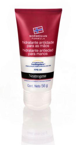 Julho 2009: O Neutrogena Norwegian Formula Hidratante anti-idade para as Mãos com FPS 30 promete fornecer ampla proteção contra os raios UVA e UVB causadores de manchas e envelhecimento precoce. Preço sugerido: R$20,90. SAC: 0800 703 6363