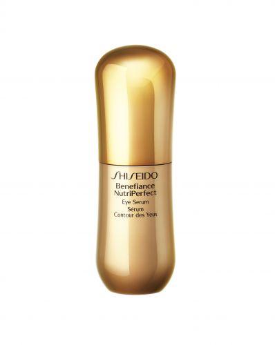 Outubro 2009: Shiseido Benefiance NutriPerfect Eye Serum é um tratamento para a área dos olhos de mulheres com mais de 50 anos que têm distúrbios e alterações da pele relacionados aos problemas hormonais. Promete dar mais elasticidade e diminuir as rugas. Preço sugerido: R$ 405,00. SAC: 0800 14 80 23