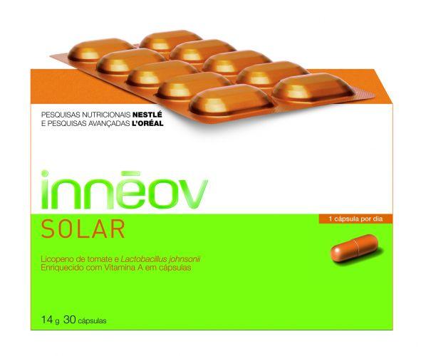 Outubro 2009: O Innéov Solar, da L'Oreal, é um nutricosmético que promete preparar a pele a exposição solar, ajudando a reforçar as defesas cutâneas contra os raios UV. Preço sugerido: R$ 99,00. SAC: 0800 727 4412