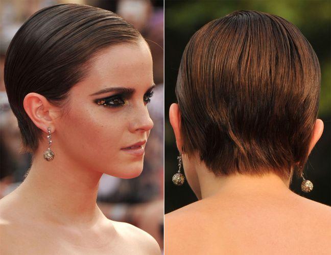 Depois de seus cabelos já mais crescidinhos, a atriz ousou mais, lançando mão do gel para conseguir um penteado moderno e com tudo no lugar