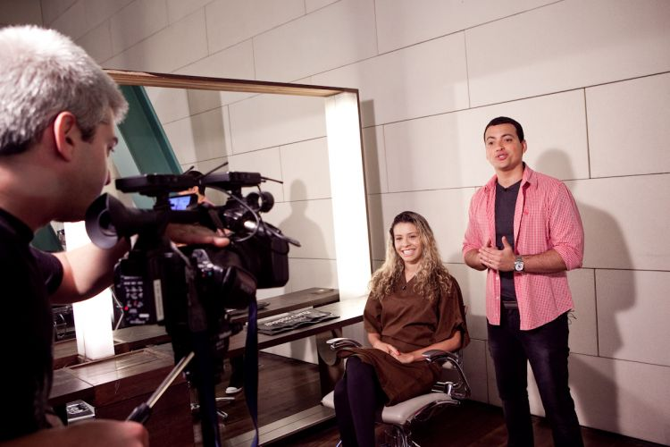 Cena da gravação do programa