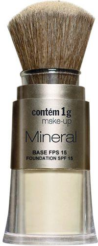 Mineral Base FPS 15, Contém 1g, R$ 72 (SAC (11) 3660-0378). A base 100% mineral oferece menos riscos de alergia e reforça o bloqueio contra os raios UVB