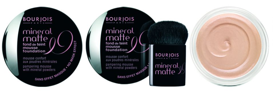 Mineral Matte, Bourjois, R$ 105 (SAC 0800-7043440). A base em forma de mousse mantém a pele hidratada por até oito horas e é enriquecida com pigmentos anti-idade