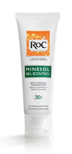 Para adolescentesMinesol Oil Control FPS 30, RoC, R$ 56,13. Este gel-creme tem ingredientes que controlam a oleosidade da pele por até duas horas, com ação antibrilho. Proporciona rápida absorção e toque seco, é resistente à água e ao suor e previne a formação de cravos. O produto reduz e controla a oleosidade da pele por até duas horas. SAC: 0800-7036363