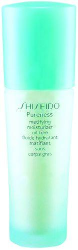 Para homensMatifying Moisturizer Oil Free, Shiseido Pureness, R$ 165. Este fluido hidratante, de textura levíssima e sem óleo, controla os problemas de brilho e desidratação da pele, além de conferir um aspecto mate à pele. Sua fórmula levemente ácida, que mantém o PH ideal da pele, previne a acne. SAC: 0800-148023