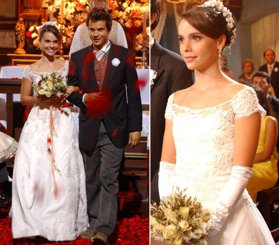 Debora Falabella casou na novela