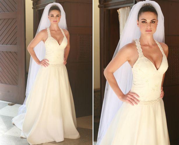 A noiva interpretada por Luli Miller em