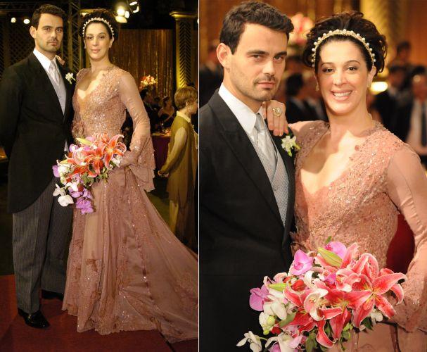 A personagem Donatella (Claudia Raia) casou com Zé Bob (Carmo Dalla Vecchia) em