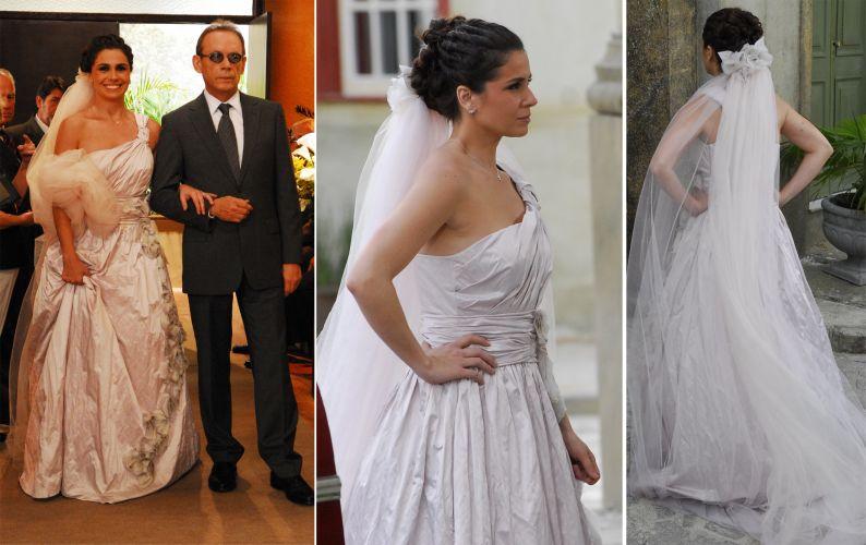 O vestido de noiva de Alma (Giovanna Antonelli) em