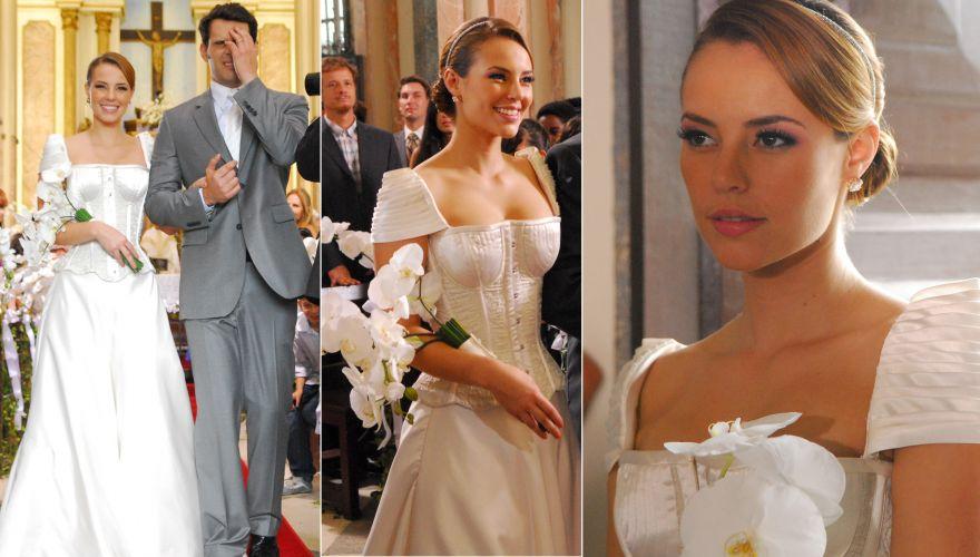 O vestido de noiva da vilã Verônica (Paola Oliveira) em