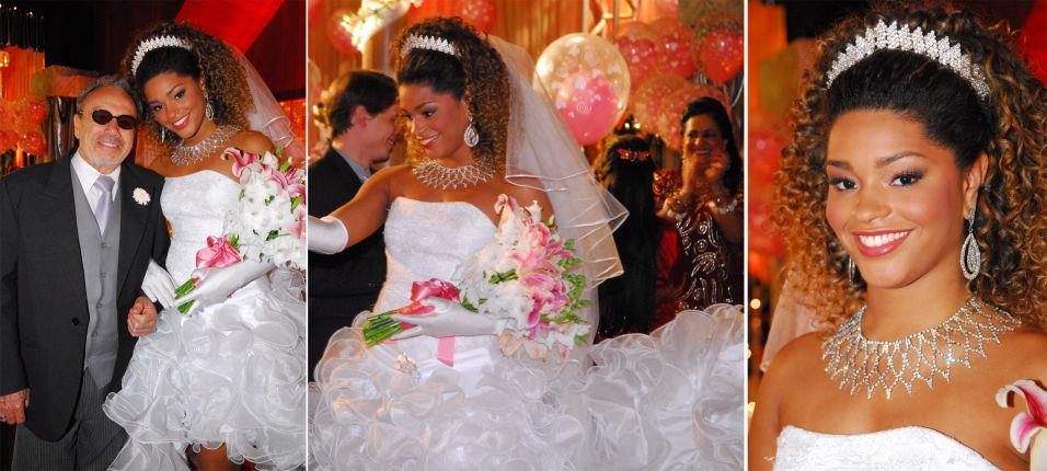 A exuberante Suellen (Juliana Alves) casou com Castanho (Stênio Garcia) em