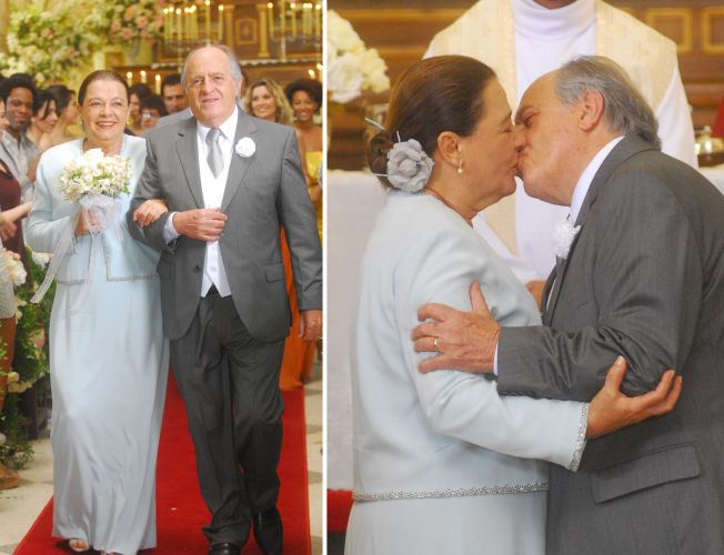 No casamento de Piedade (Bete Mendes) e Jacques (Ary Fontoura) em