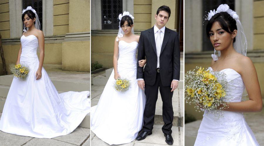 A noiva infeliz vivida por Carolina Oliveira em