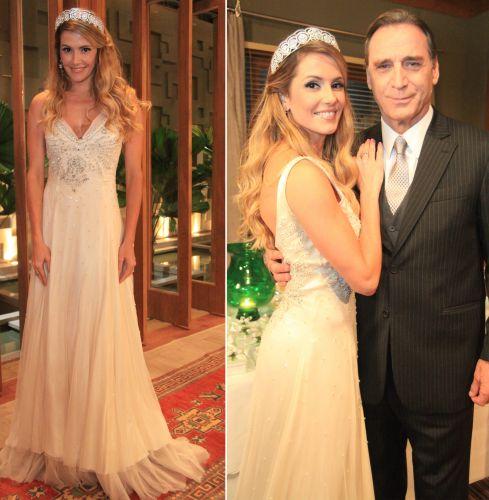 Natalie (Déborah Secco) se casou com o banqueiro Cortez (Herson Capri) em