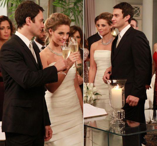 Para o primeiro casamento da personagem Marina (Paola Oliveira) em