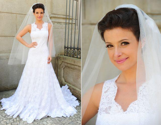 O vestido de noiva da personagem Abelha (Bruna Spínola) em