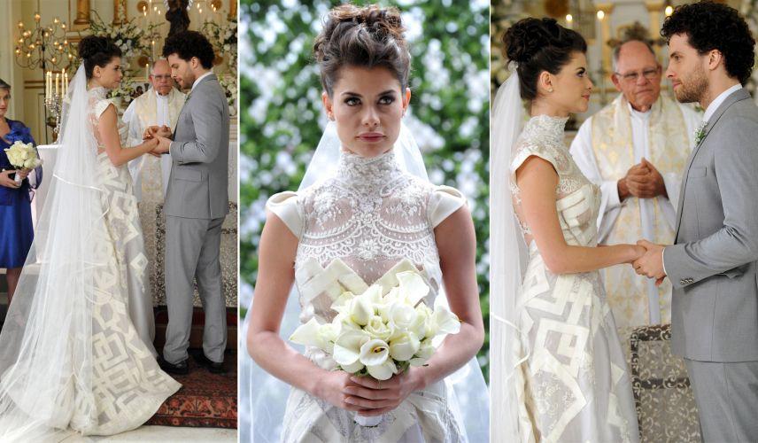 Lili (Alinne Moraes) subiu ao altar em