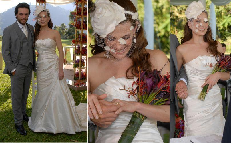 A personagem Amanda (Carolina Ferraz) se casou com Herculano (Rodrigo Lombardi) em