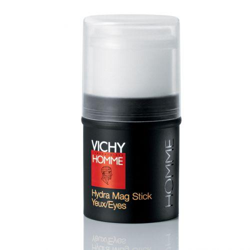 Vichy Homme Hydra Mag Stick Yeux: Seus componentes têm ação drenante, vaso constritora, descongestionante, anti-inflamatória e prometem ainda melhorar a microcirculação. Preço sugerido: R$ 94,90. SAC 0800-7011552