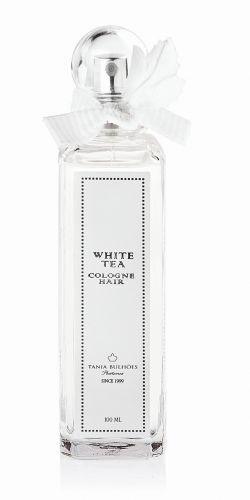 Perfume para Cabelo White Tea, Tânia Bulhões, é enriquecido com silicones e tem aroma de chá branco - Preço sugerido: R$ 89,00 (100ml). SAC: (11) 3067-4691Preços pesquisados em novembro de 2011 e sujeitos a alterações