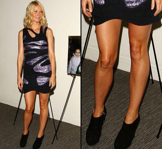Gwyneth Paltrow deixa à mostra as pernas lisas e bem hidratadas, em Nova York (29/07/2009)