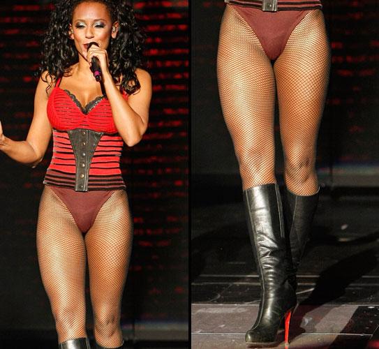 A ex-Spice-Girl Melanie Brown é dona de um par de pernas excepcionais (18/04/2009)